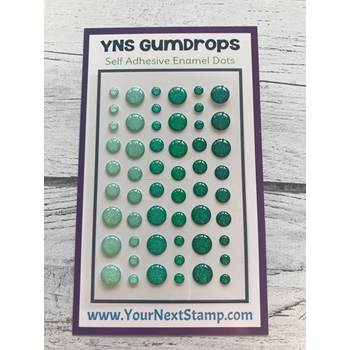 Your Next Stamp EMERALD ICE SPARKLY Gumdrops ynsgd104