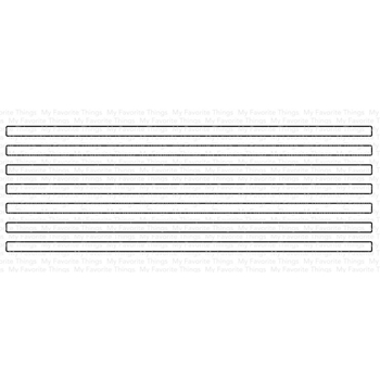 My Favorite Things SKINNY STRIPES HORIZONTAL Die-Namics MFT1585