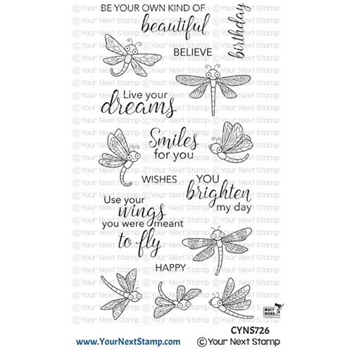 Your Next Stamp DANCING DRAGONFLIES Clear cyns726 Preview Image