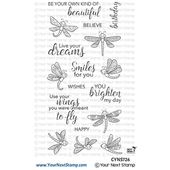 Your Next Stamp DANCING DRAGONFLIES Clear cyns726