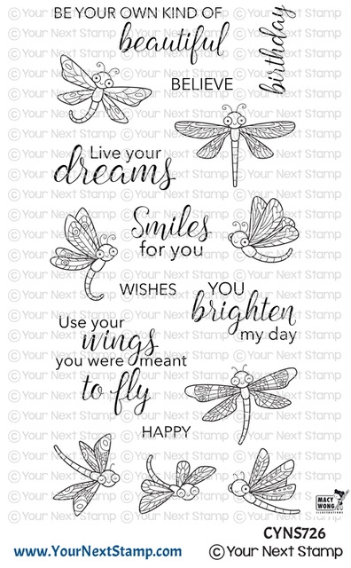 Your Next Stamp DANCING DRAGONFLIES Clear cyns726 zoom image