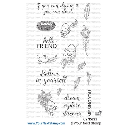 Your Next Stamp FABULOUS FEATHERS Clear cyns725 Preview Image