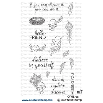 Your Next Stamp FABULOUS FEATHERS Clear cyns725
