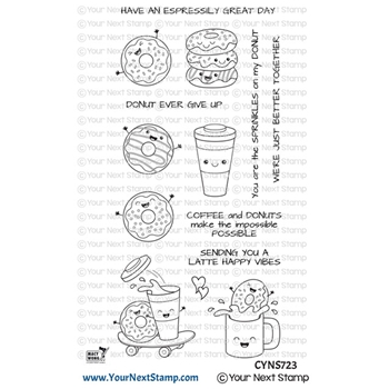 Your Next Stamp LATTE HAPPY VIBES Clear cyns723