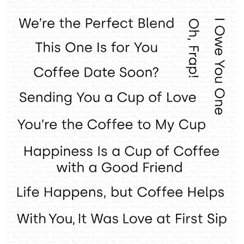 My Favorite Things CUP OF LOVE Clear Stamps CS416 Preview Image