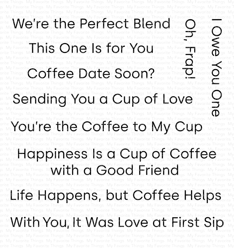 My Favorite Things CUP OF LOVE Clear Stamps CS416 zoom image