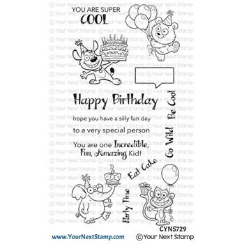 Your Next Stamp SILLY FUN BIRTHDAY Clear cyns729
