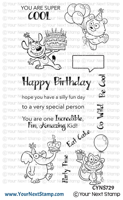 Your Next Stamp SILLY FUN BIRTHDAY Clear cyns729 zoom image