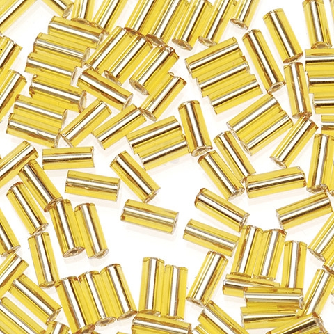 Darice 5MM GOLD GLASS BUGLE BEADS Craft Designer 1018-22 Preview Image
