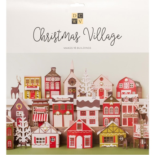 DCWV CHRISTMAS VILLAGE Paper Project 621586 Preview Image
