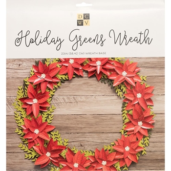 DCWV HOLIDAY GREENS WREATH Kit 623615