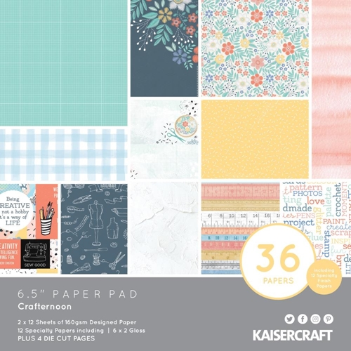 Kaisercraft CRAFTERNOON 6.5 Inch Paper Pad PP1078 Preview Image