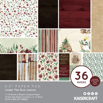 Kaisercraft UNDER THE GUM LEAVES 6.5 Inch Paper Pad PP1077