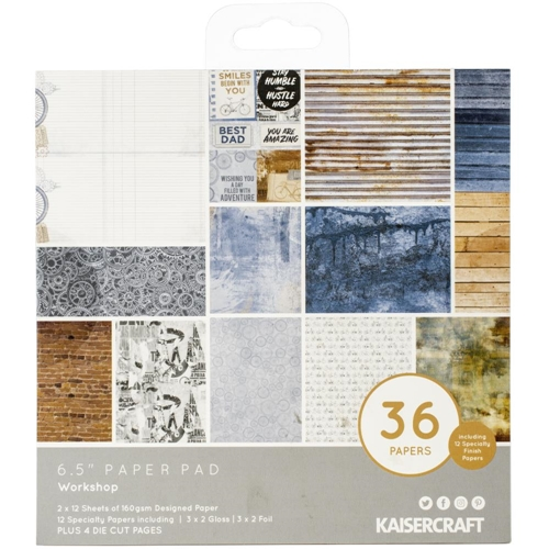 Kaisercraft WORKSHOP 6.5 Inch Paper Pad PP1073 Preview Image