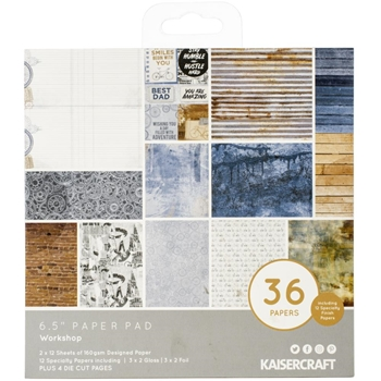 Kaisercraft WORKSHOP 6.5 Inch Paper Pad PP1073