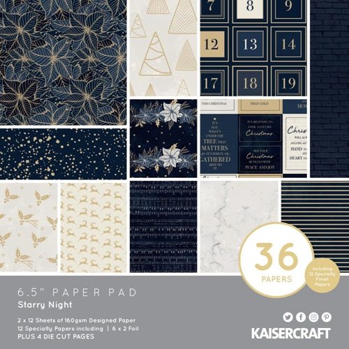 Kaisercraft STARRY NIGHT 6.5 Inch Paper Pad PP1076 Preview Image