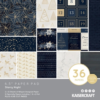 Kaisercraft STARRY NIGHT 6.5 Inch Paper Pad PP1076