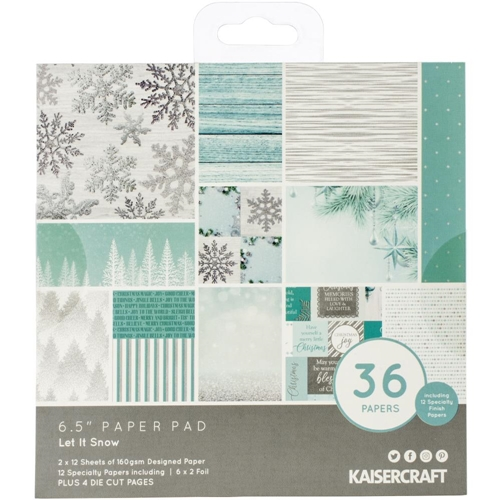 Kaisercraft LET IT SNOW 6.5 Inch Paper Pad PP1074 Preview Image