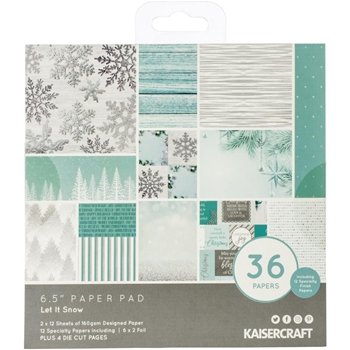Kaisercraft LET IT SNOW 6.5 Inch Paper Pad PP1074