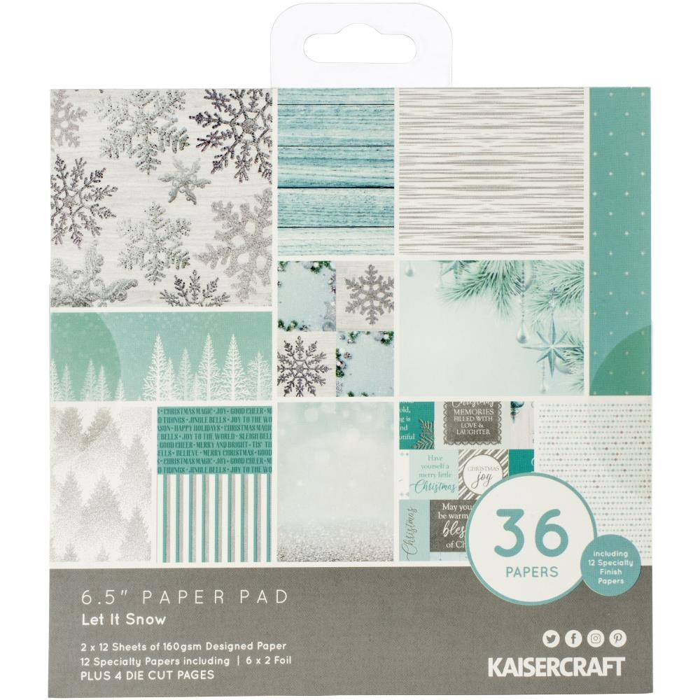 Kaisercraft LET IT SNOW 6.5 Inch Paper Pad PP1074 zoom image