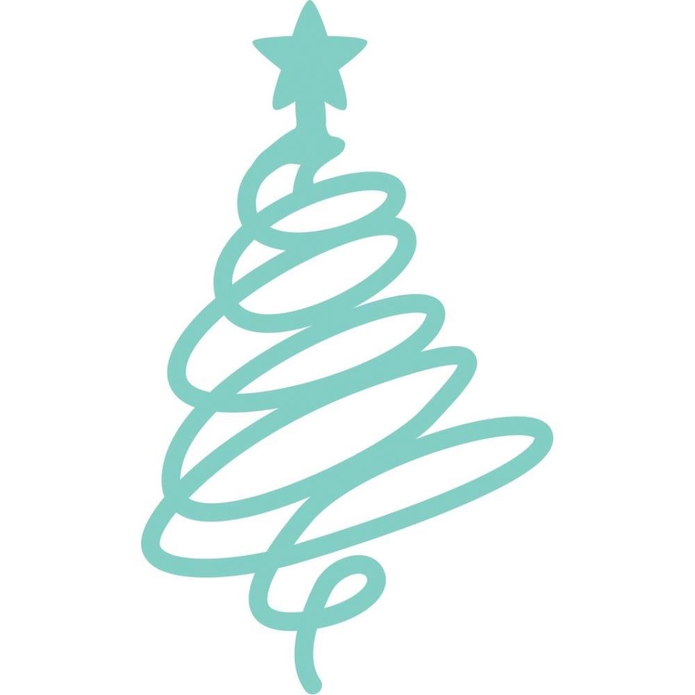 Kaisercraft SQUIGGLE CHRISTMAS TREE Decorative DIY Die Cut DD3348 zoom image