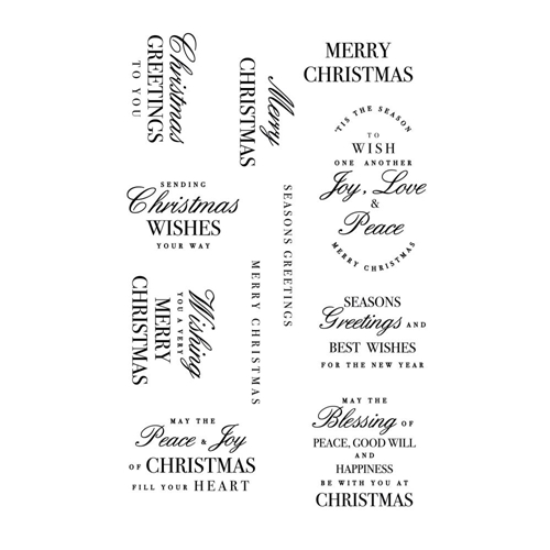 Kaisercraft CHRISTMAS GREETINGS Clear Stamps CS370 Preview Image