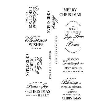 Kaisercraft CHRISTMAS GREETINGS Clear Stamps CS370