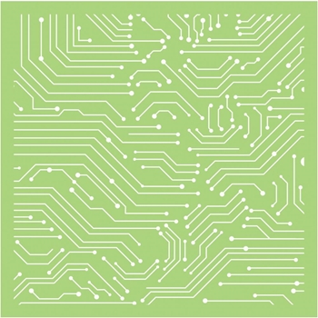 Kaisercraft LINEAR LINES 6x6 Inch Stencil IT494