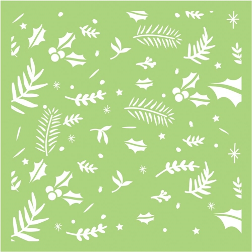 Kaisercraft FESTIVE FOLIAGE 6x6 Inch Stencil IT496 Preview Image