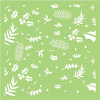 Kaisercraft FESTIVE FOLIAGE 6x6 Inch Stencil IT496