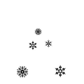 Lavinia Stamps SNOWFLAKES Clear Stamp LAV206