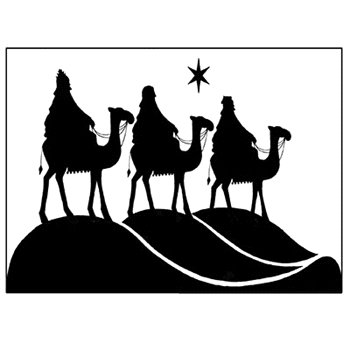 Lavinia Stamps THREE KINGS Clear Stamp LAV076