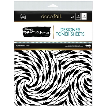 Therm O Web Brutus Monroe PEPPERMINT TWIST Deco Foil Toner Sheets 19039