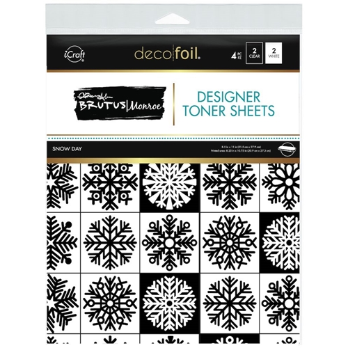 Therm O Web Brutus Monroe SNOW DAY Deco Foil Toner Sheets 19040 Preview Image