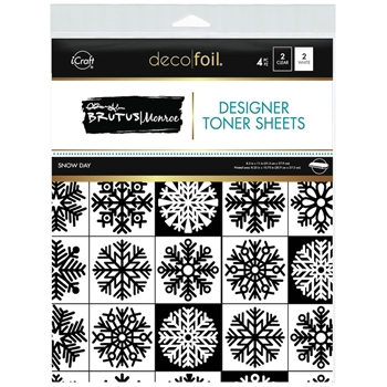 Therm O Web Brutus Monroe SNOW DAY Deco Foil Toner Sheets 19040
