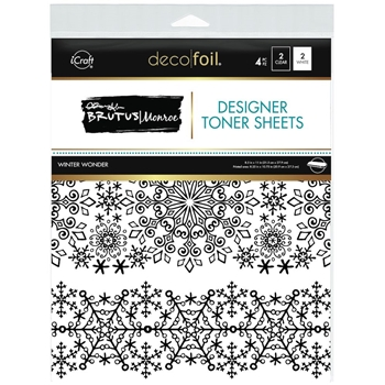 Therm O Web Brutus Monroe WINTER WONDER Deco Foil Toner Sheets 19041