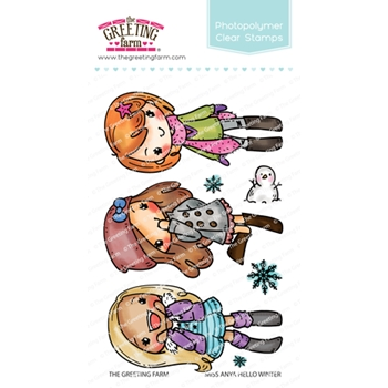 The Greeting Farm MISS ANYA HELLO WINTER Clear Stamps TGF508