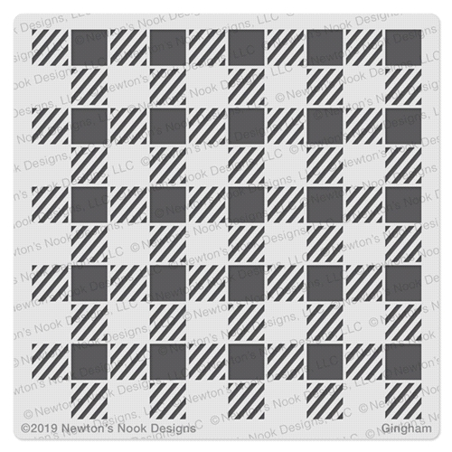 Newton's Nook Designs GINGHAM Stencil NN1909T01 Preview Image