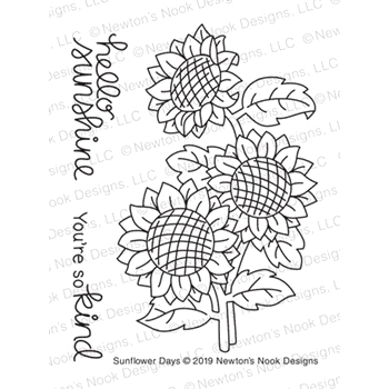 Newton's Nook Designs SUNFLOWER DAYS Clear Stamps NN1908S03