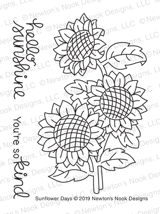 Newton's Nook Designs SUNFLOWER DAYS Clear Stamps NN1908S03 zoom image
