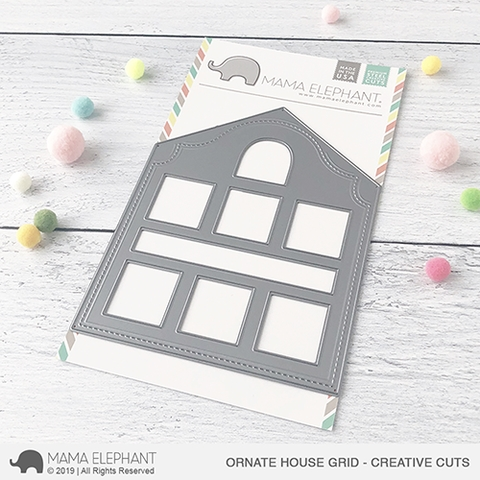 Mama Elephant ORNATE HOUSE GRID Creative Cuts Steel Dies Preview Image