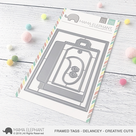 Mama Elephant FRAMED TAGS DELANCEY Creative Cuts * Preview Image