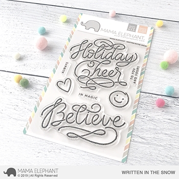 Mama Elephant Clear Stamps WRITTEN IN THE SNOW