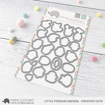 Mama Elephant LITTLE PENGUIN AGENDA Creative Cuts Steel Dies