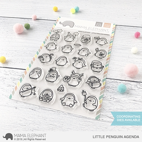 Mama Elephant Clear Stamps LITTLE PENGUIN AGENDA Preview Image