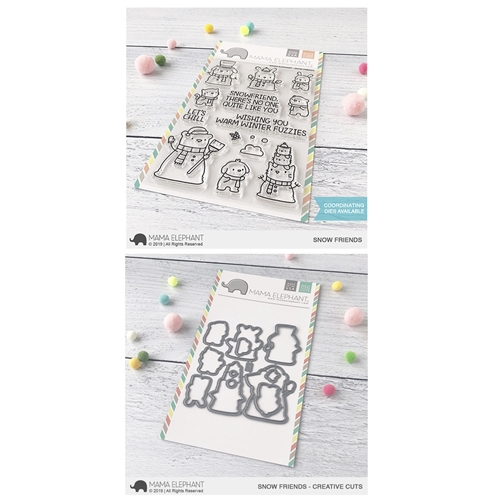 Mama Elephant Clear Stamp and Die MEPT671 Snow Friends SET Preview Image