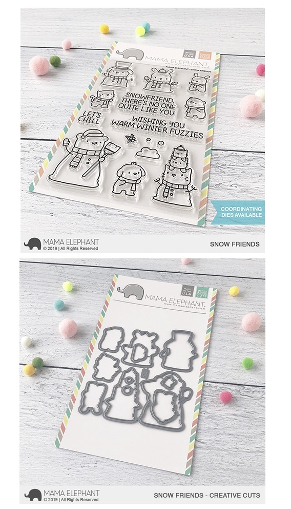 Mama Elephant Clear Stamp and Die MEPT671 Snow Friends SET zoom image