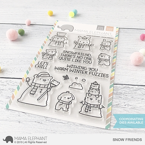 Mama Elephant Clear Stamps SNOW FRIENDS Preview Image