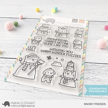 Mama Elephant Clear Stamps SNOW FRIENDS