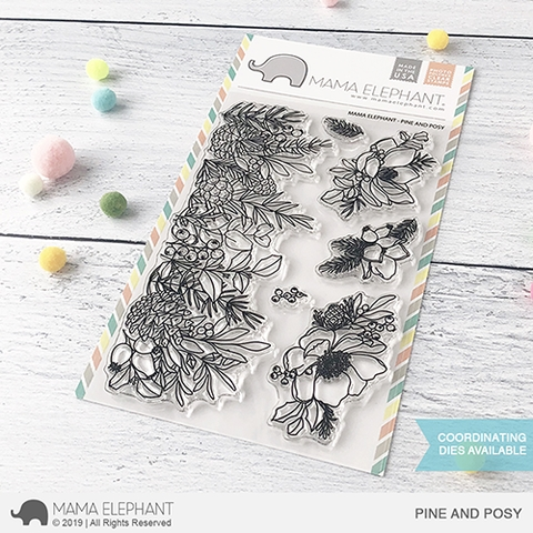 Mama Elephant Clear Stamps PINE AND POSY Preview Image